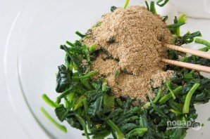 Японский салат из шпината - фото шаг 4