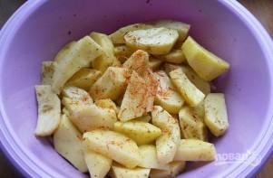 Картофель с шампиньонами в мультиварке - фото шаг 2
