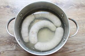 Домашняя колбаса на сковороде