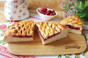 Дрожжевой пирог с малиной - фото шаг 12