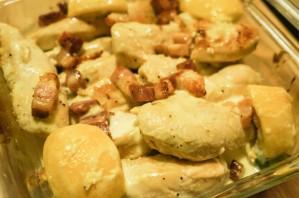 Запеченная курица в сливочном соусе - фото шаг 7