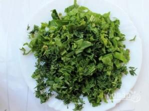 Салат из зеленой гречки - фото шаг 5