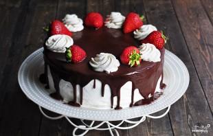 Шоколадный торт с заварным кремом - фото шаг 13