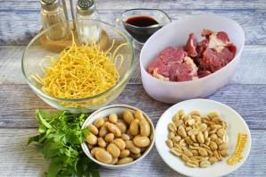 Говядина с лапшой и фасолью - фото шаг 1
