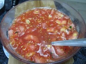 Фаршированные помидоры фаршем в духовке - фото шаг 3