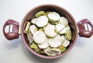 Баклажаны с кабачками в томатном соусе - фото шаг 4