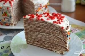 Блинный торт с шоколадом - фото шаг 5