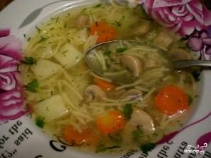 Суп грибной с вермишелью - фото шаг 6