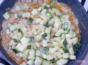 Мясная сковорода с рисом и кабачками - фото шаг 5