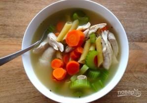 Куриный суп с овощами и макаронами - фото шаг 9
