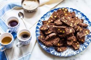 Шоколадные бискотти с клюквой и фисташками - фото шаг 7