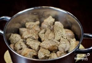 Мясо с лисичками - фото шаг 7