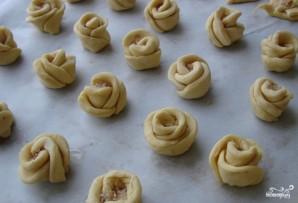Печенье из слоеного дрожжевого теста - фото шаг 3
