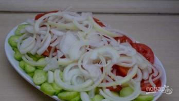 Овощной салат по-грузински с орехами - фото шаг 3