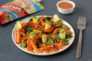 Запеченная тыква с соусом из кетчупа - фото шаг 7