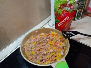 "Лучший рецепт макарон по-флотски с овощами и кетчупом ""Махеевъ"" - фото шаг 6"