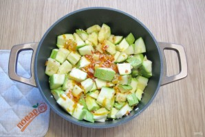 Салат из кабачков с рисом на зиму - фото шаг 9