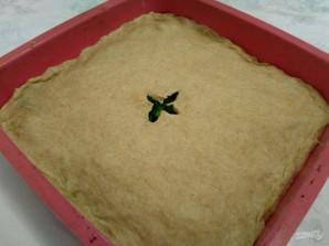 Пирог из постного теста с летней зеленью  - фото шаг 9