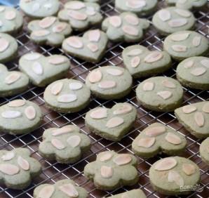 Печеньки с зеленым чаем - фото шаг 5