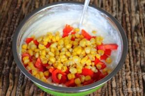 Творожная запеканка с болгарским перцем и кукурузой - фото шаг 6