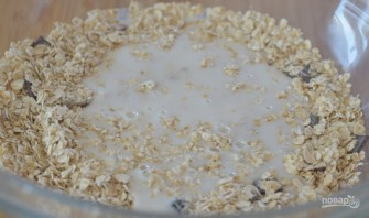 Овсяное печенье с медом на кефире - фото шаг 1