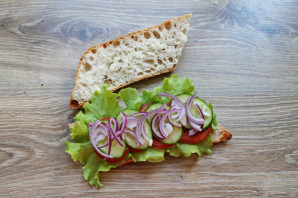 Греческий сэндвич - фото шаг 6