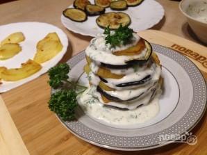 Баклажанно-картофельный мильфей - фото шаг 8