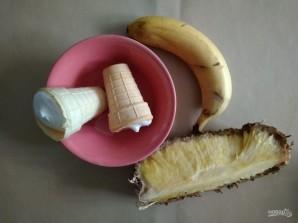 Банановое мороженое с ананасом - фото шаг 1