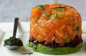 Тартар из лосося и авокадо - фото шаг 5