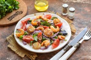 Салат из гребешков с рукколой - фото шаг 7