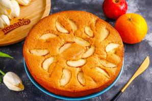 Шарлотка с яблоками и мандаринами - фото шаг 8