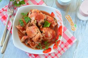 Мясные рулетики в томатном соусе
