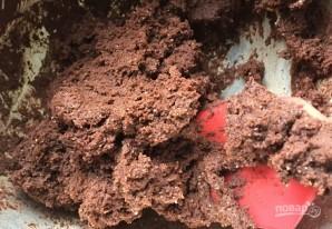 Шоколадное печенье с начинкой - фото шаг 3