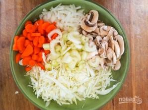Суп из овощей и грибов - фото шаг 1