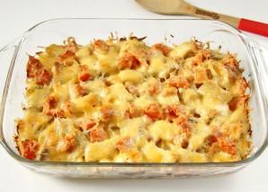 Тилапия в духовке с картошкой - фото шаг 8