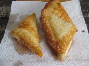 """Индийские пирожки """"Самоса"""" с зефиром и шоколадом  - фото шаг 8"""