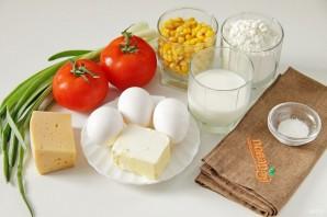Французский пирог с кукурузой и помидорами - фото шаг 1