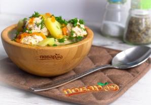 Суп с булгуром и фрикадельками - фото шаг 7