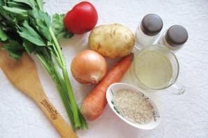 Куриный суп с сельдереем и рисом - фото шаг 1