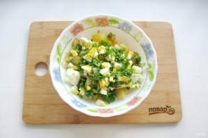 Картофельный салат с зеленым луком - фото шаг 6