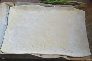Пирог из слоеного теста с курицей - фото шаг 3