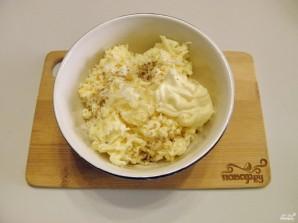 Рулетики из баклажанов с сыром и чесноком - фото шаг 4