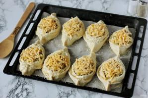 Лодочки из слоеного теста с картофелем и мясом - фото шаг 12