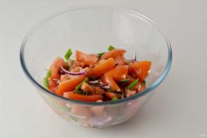 Салат с кориандром - фото шаг 6
