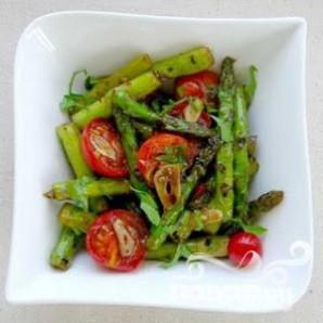 Грибной салат со спаржей - фото шаг 1