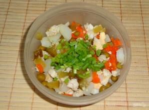 """Салат """"Оливье"""" с куриным филе и горчицей - фото шаг 4"""