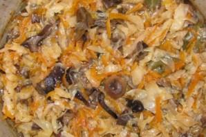 Вкусная капуста с грибами на зиму - фото шаг 10
