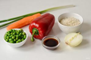 Вок рисом и овощами - фото шаг 1