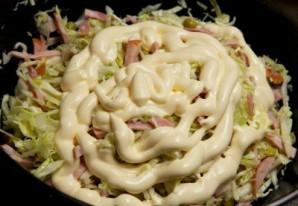 Салат с ветчиной и капустой - фото шаг 5
