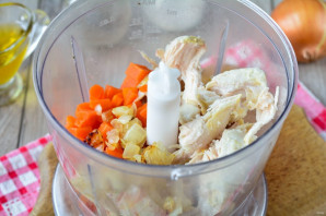 Паштет из куриной грудки с морковью и луком - фото шаг 6
